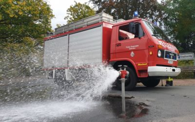 Hydranten für die Löschwasserversorgung geprüft