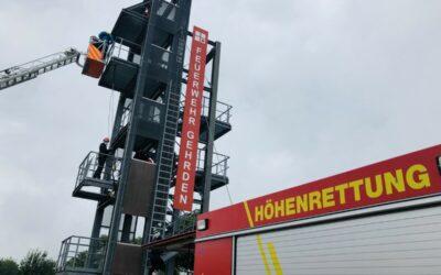 Spezialtraining am Feuerwehrturm